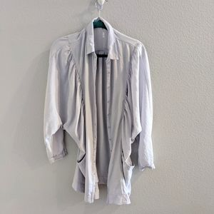 Free People, light blue button up cardigan